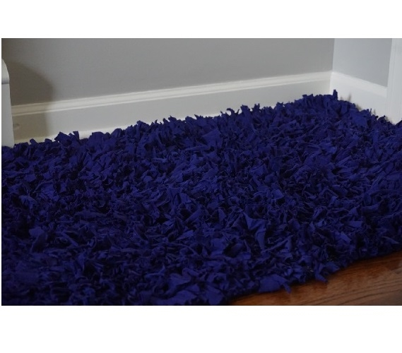 Xl Purple Rug: Jersey Knit Cotton Dorm Rug