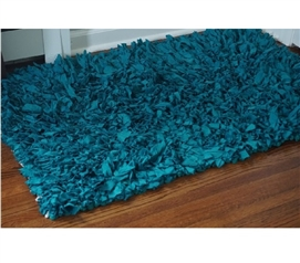 Jersey Knit Cotton Dorm Rug - Teal College Supplies College Rug