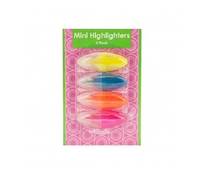 4 Pack Mini Highlighters Dorm Essentials Dorm Accessories