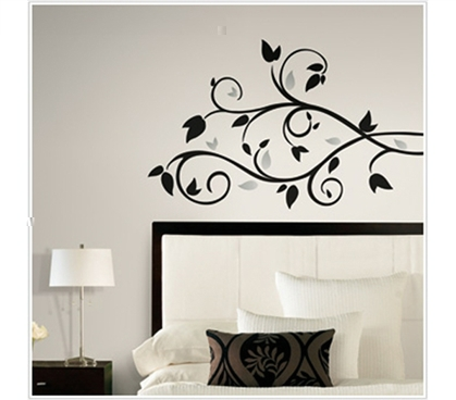 Stylish College Items - Foil Leaves - Peel N Stick Dorm Decorations