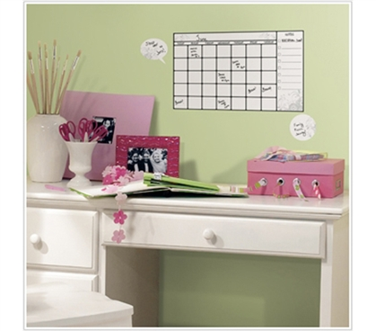 Dry Erase - Peel n Stick Calendar - Stay Organized At College
