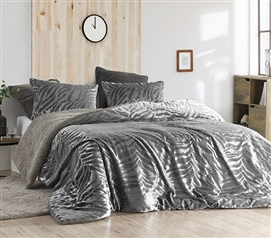 Primal Zebra - Coma Inducer Twin XL Comforter - Silver Black