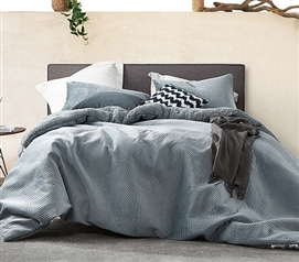 Embossy - Coma Inducer Twin XL Comforter - Cinder Gray