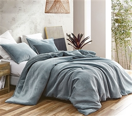 Embossy - Coma Inducer Twin XL Duvet Cover - Cinder Gray