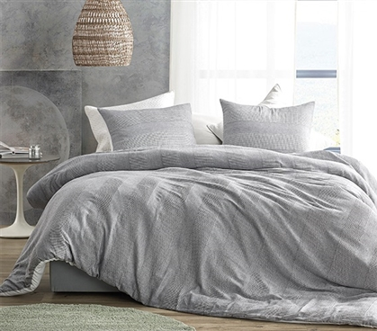 Waffled Gray - Twin XL Comforter