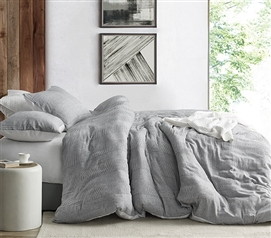 Waffled Gray - Twin XL Duvet Cover