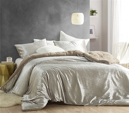 Velvet Crush - Coma Inducer Twin XL Comforter - Crinkle Iced Almond