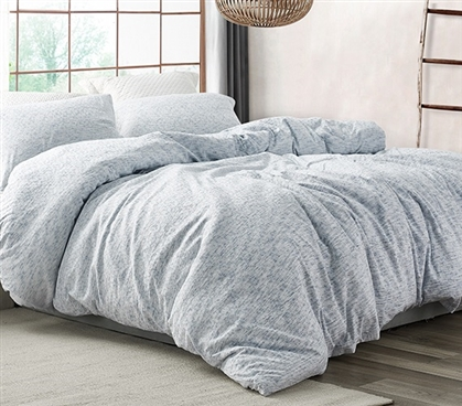 Saltwater Navy - Jacquard Twin XL Duvet Cover