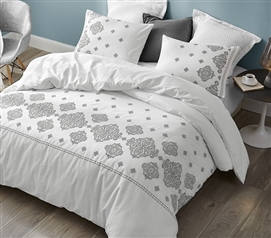 Phineas Gray Embroidered Twin XL Comforter