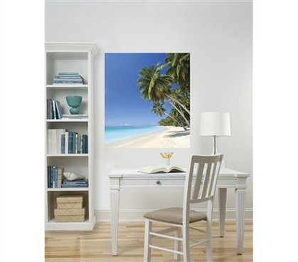 Decorate Dorm Room Walls - Island Wall Art - Peel N Stick - Cool Items For College Students