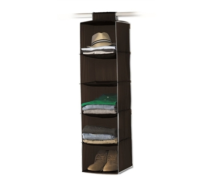 Keep Dorm Clean - 5-Shelf College Closet Organizer - Dorm Room Organizers