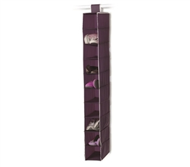 Keep Room Clean - 10-Shelf College Closet Organizer - Eggplant - Organize College Dorm