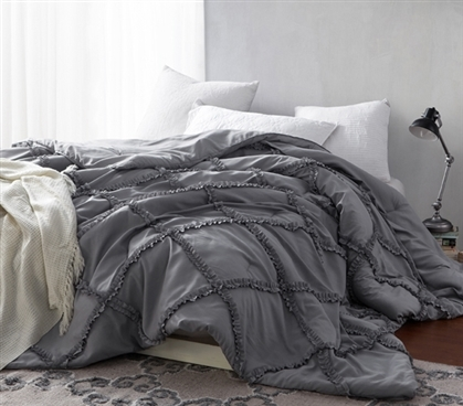Alloy Gathered Ruffles - Handcrafted Series - Oversized Full XL Comforter