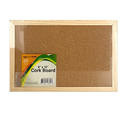"8"" x 12"" Wood Framed Corkboard"