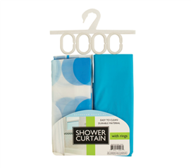 Shower Curtains and Rings Set