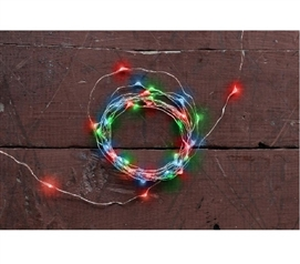 Red, Blue, and Green Battery Lights - Copper Wire Dorm Room Decorations Dorm Essentials