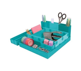 Dorm Desk Paper Organizers - Blue-Green