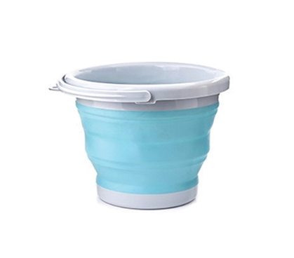 Collapsible Storage Bucket - Aqua
