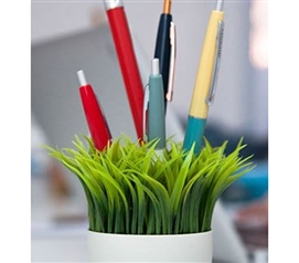 Potted Pen Stand - College Desk Organizer