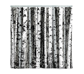 Birch Wood Shower Curtain