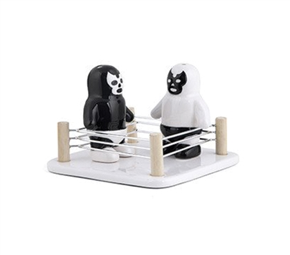 Luchador Salt And Pepper Shakers