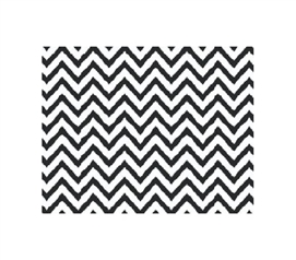 Grip Print Shelf Liner - Chevron Black College Decorations