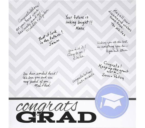 Canvas Kudos - Signable Wall Canvas - Graduation Seal Design