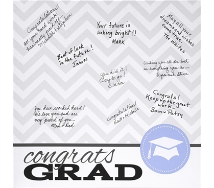Canvas Kudos - Signable Wall Canvas - Graduation Seal Design