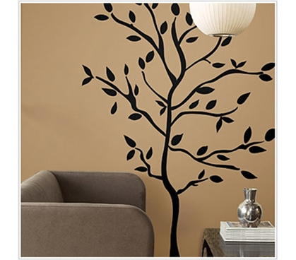Grab A Bite Of This Tree - Black Tree Branches - Peel N Stick Dorm Decor