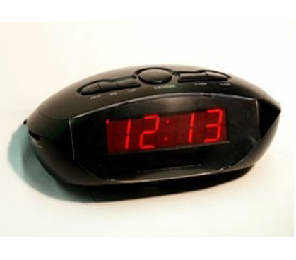 Don't Be Late To Class - LED Clock Radio Alarm Clock - AUX-IN - Must Have Dorm Item For Napping