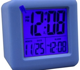 Blue Cubed LCD Digital Alarm Clock Dorm room Necessities