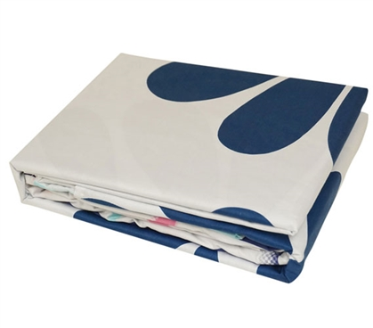 Cobalt Bloom Twin XL Sheet Set