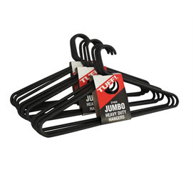 Needed For Every College Closet - Jumbo Thick Black Hangers 9 Pack - Dorm Closet Organizers