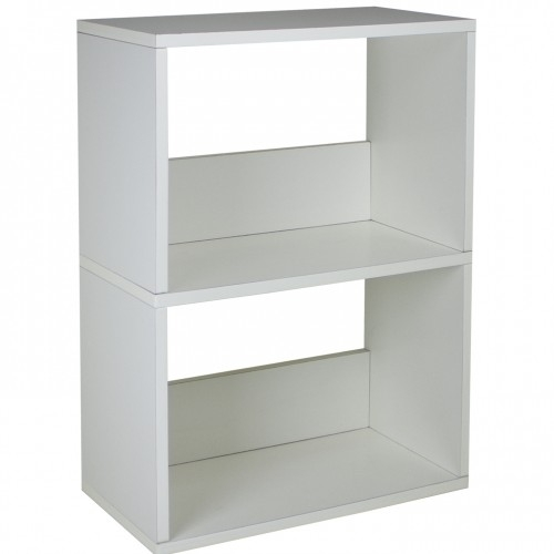2 Shelf Bookshelf White Way Basics Dorm