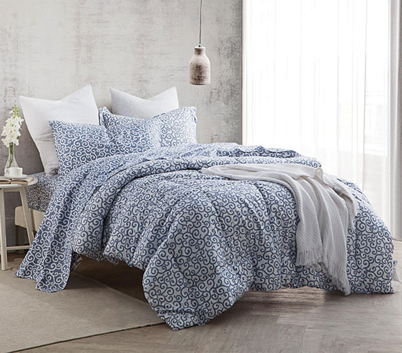 dawning gray twin xl comforter set