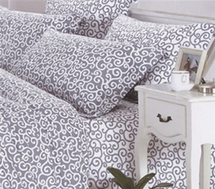 Dawning Gray Twin XL Sheet Set