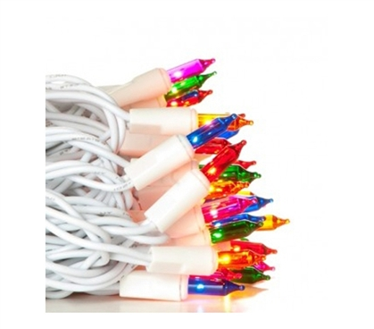 Mini Dorm Lights - Multi-Color - White Wire