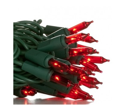 Mini Dorm Lights - Red - Green Wire