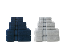 Zero Twist College Towel Set - 6 Piece 100% Cotton