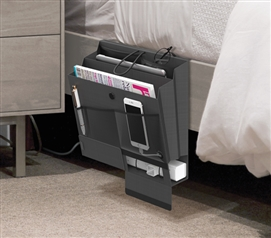 Bedside Caddy with Power Strip Compartment