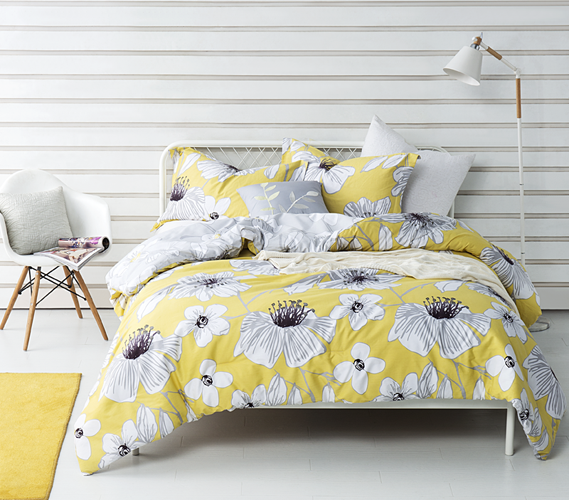 Yellow Flowered Twin Xl Comforter Buy Dorm Room Comforter