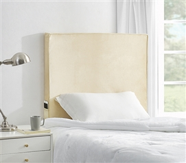University Transitional Cushioned Dorm Headboard - Almond Milk Velvet