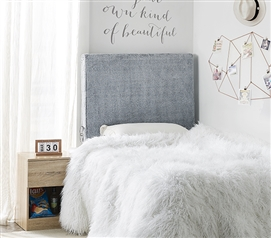 University Transitional Cushioned Dorm Headboard - Chunky Bunny - Shaded Gray