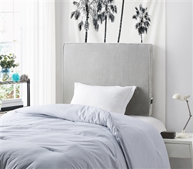 University Transitional Cushioned Dorm Headboard - Glacier Gray Plush