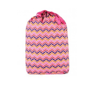 Zig Zag Pink - College Laundry Bag