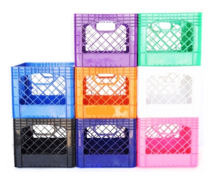 Dorm Milk Crate - 16 Quart - Available in 8 Colors Dorm Room Organization Dorm Organizers