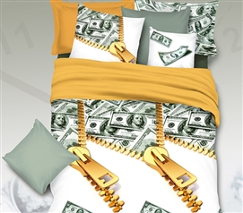 Cash Money Bling Twin XL Comforter for College Twin XL Bedding Dorm Essentials
