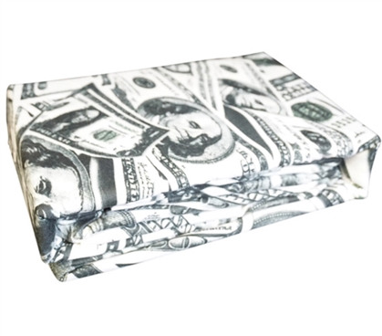 Cash Money Bling Twin XL Sheet Set Extra Long Twin Sheets Twin XL Bedding