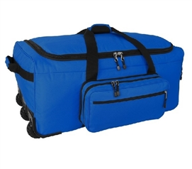 Mini Monster Bag Trunk - Blue Storage Trunk with Wheels Dorm Essentials
