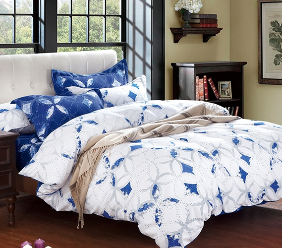 Blue and White Extra Long Twin College Dorm Comforter Twin XL
